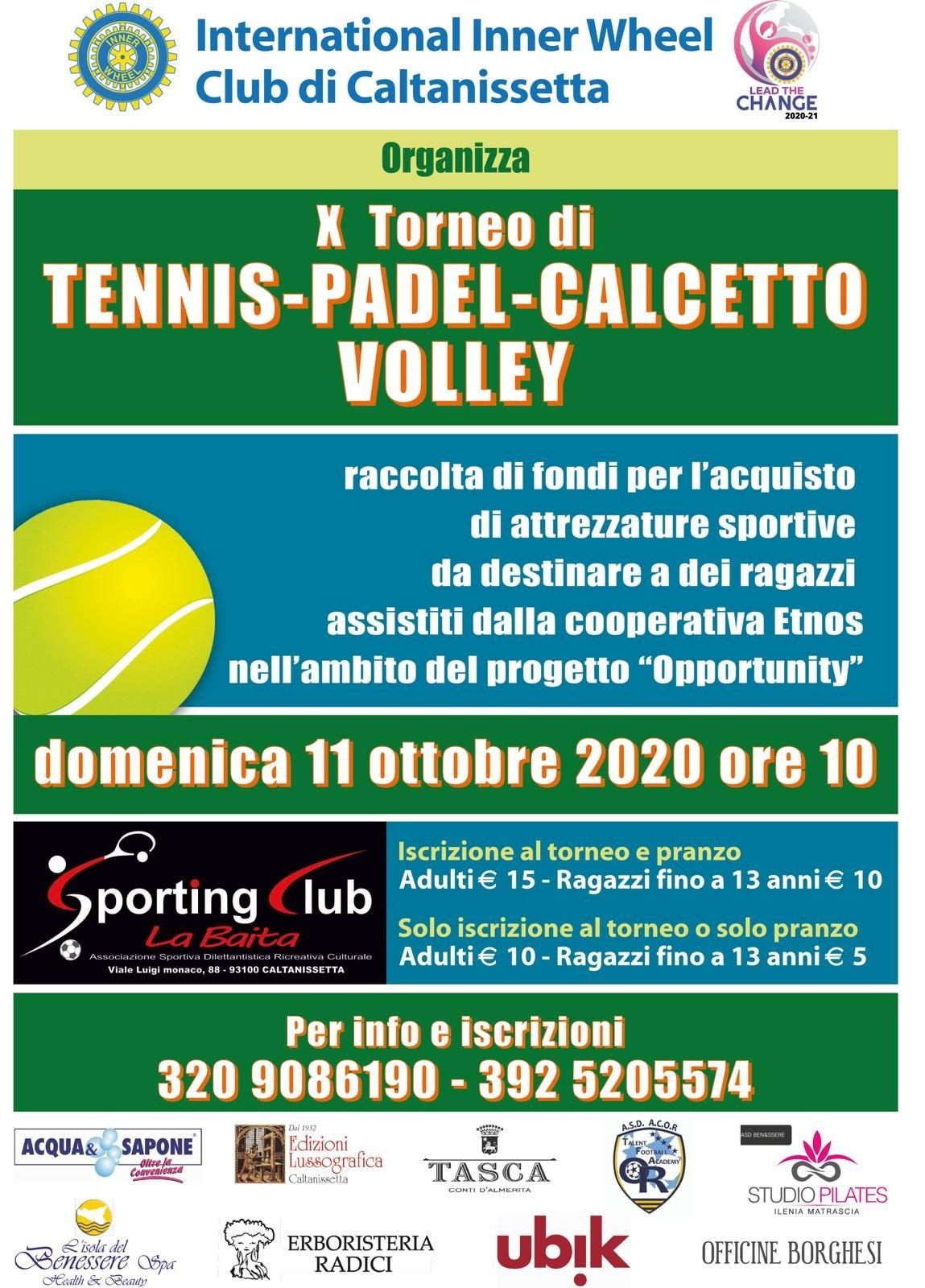 Tennis, Padel, Calcetto e Volley